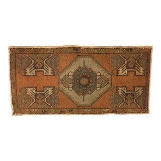 Geometric Handmade Floor Rug - 1′7″ × 3′3″