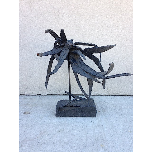 Metal Brutalist Insect Sculpture For Sale - Image 5 of 6