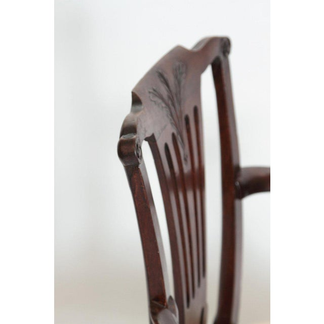 Late 18th Century Chippendale Mahogany Armchair For Sale - Image 11 of 13