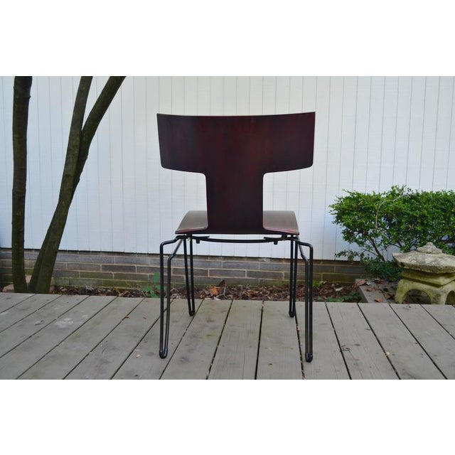 Metal Anziano Dining Chairs by John Hutton for Donghia For Sale - Image 7 of 10