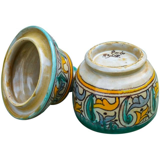 Antique Moorish Ceramic Box For Sale - Image 10 of 11