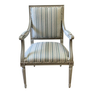 20th Century Louis XVI Style Upholstered Arm Chair For Sale