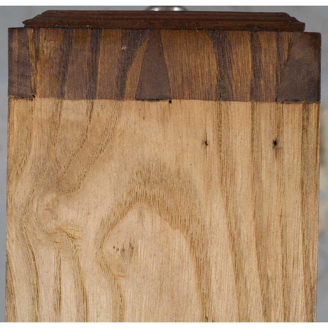 1900s French Marble Topped Walnut Pot Cupboard For Sale - Image 9 of 13