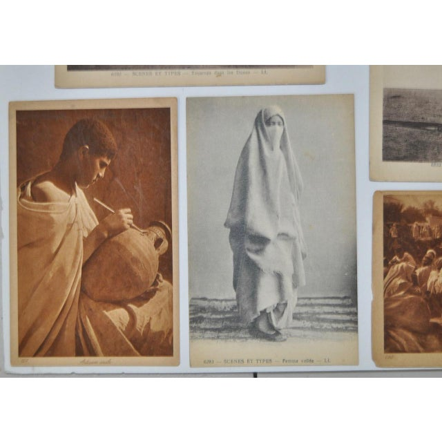 Traditional Circa 1910 Lehnert & Landrock North Africa Photo Postcards - Set of 10 For Sale - Image 3 of 7