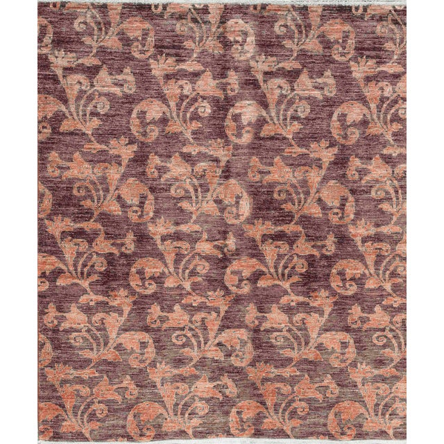 Contemporary Hand Woven Wool Rug - 6'4 X 7'6 For Sale - Image 4 of 4