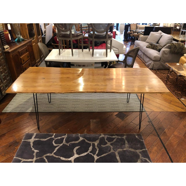 Custom Live Edge Wood Table For Sale In San Francisco - Image 6 of 11
