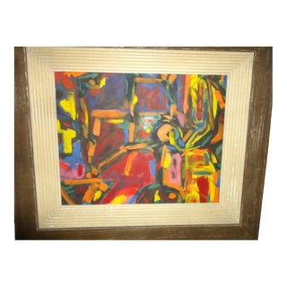 1950s Abstract 'New York School' Painting For Sale