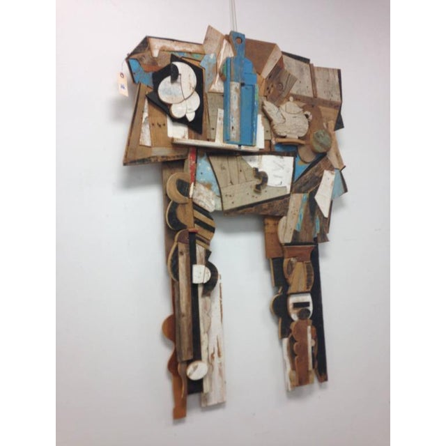Abstract Wood Collage by Felice Antonio Botta, Italy, 20th Century For Sale - Image 9 of 9