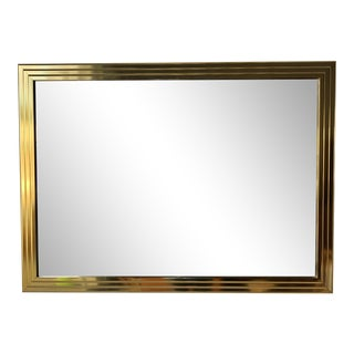 Vintage Late 20th Century Hollywood Regency Wall Mirror For Sale