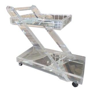 Modern Lucite Z Bar Cart