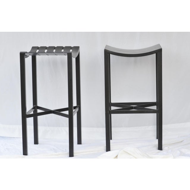 A Pair of Charleston Forged Iron Parsons Stools - Image 2 of 10