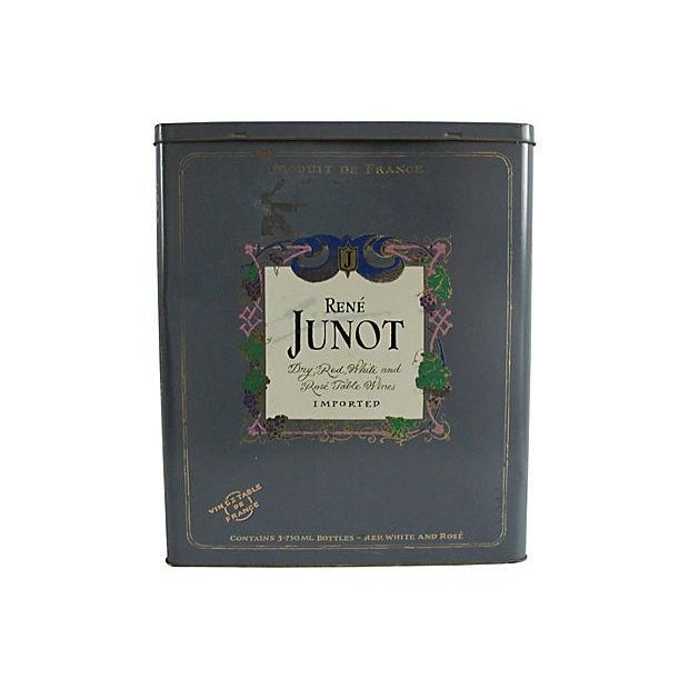 French Rene Junot Wine Tin - Image 2 of 4