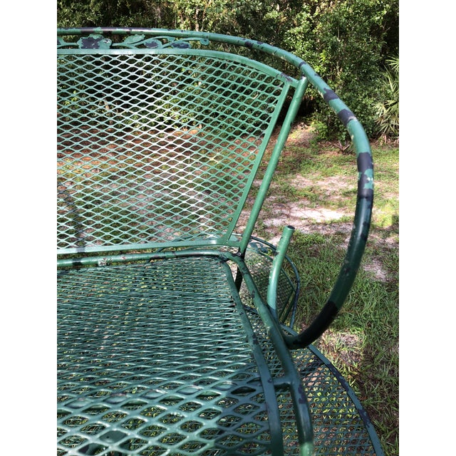 1980s 1980s Vintage Russel Woodard Style Patio Table and 4 Chairs For Sale - Image 5 of 13