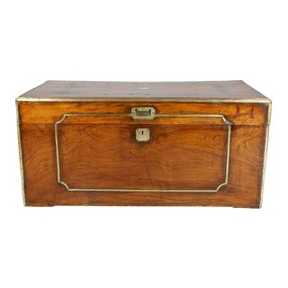 Chinese Export Camphorwood and Brass Bound Chest
