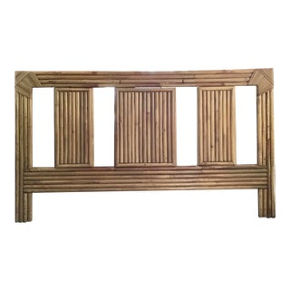 Boho Chic Rattan Queen Modern Reed Headboard For Sale