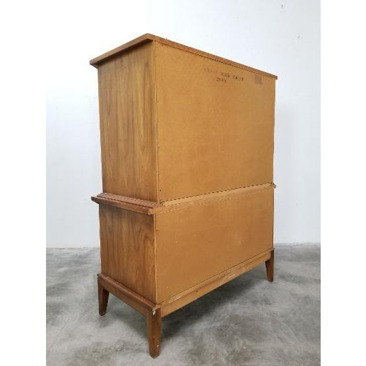 1960s Dixie Mid-Century Highboy Dresser For Sale - Image 11 of 13