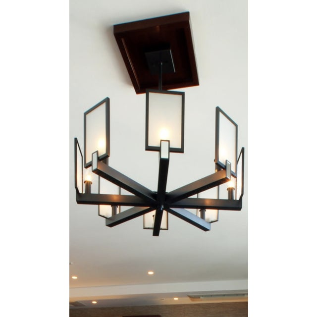 CL Sterling & Son Archer Chandelier, by Peter Carlson For Sale - Image 9 of 12