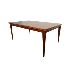 Vintage Niels Otto Moller Danish Modern Moller Teak Dining Table For Sale