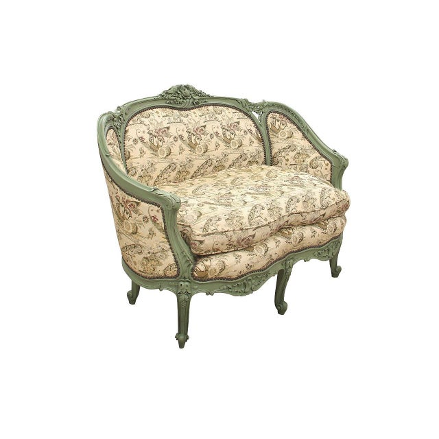 French Rococo Style Settee For Sale - Image 9 of 9