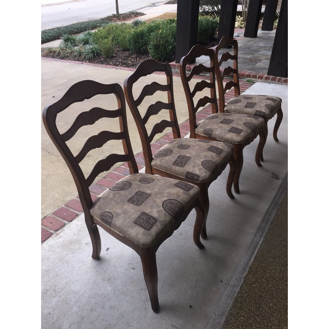 Ethan Allen Country French Dining Chairs - Set of 4 - Image 2 of 6