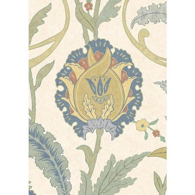 "English Lewis & Wood Ipek Damask Pugin Extra Wide 52"" Damask Wallpaper - 1 Yard For Sale - Image 3 of 5"