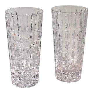"Vintage Mikasa Highball ""Teardrop"" Crystal Glasses - Set of 2 For Sale"