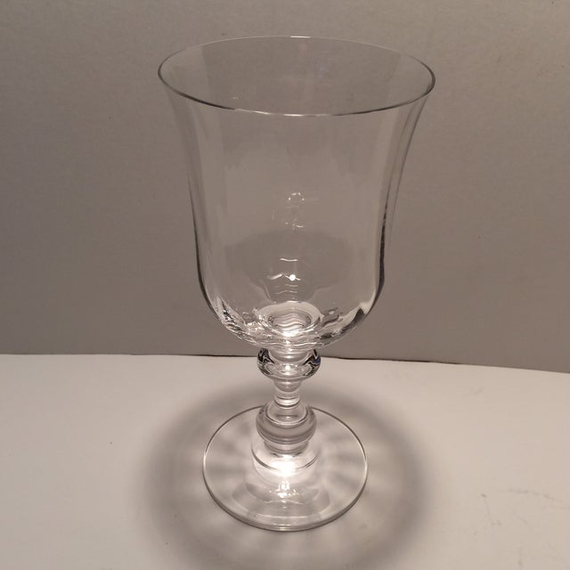 "Vintage Crystal Mikasa ""French Country"" Water Goblets - S/4 - Image 3 of 11"