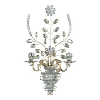 Circa 1930 French Silver Plated Sconces - a Pair For Sale