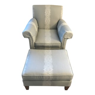 Modern Ethan Allen Avery Chair With Ottoman For Sale