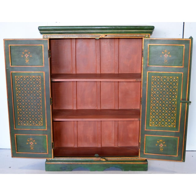 Vintage Indian Painted Wooden Cabinet For Sale In Los Angeles - Image 6 of 8