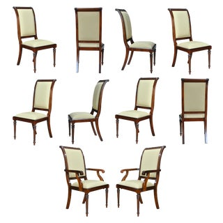 Back Upholstered Chairs- Set of 10 For Sale