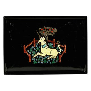 Couroc Unicorn Plastic Serving Tray For Sale