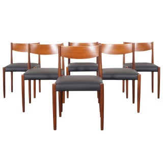 Danish Modern Teak Dining Chairs by Poul Volther For Sale