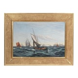 "Image of ""Ships Coming to Harbor"" Seascape For Sale"