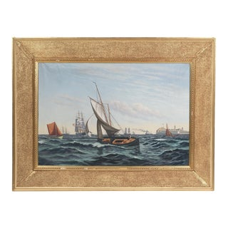 """Ships Coming to Harbor"" Seascape For Sale"