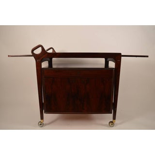 Gorgeous Danish Modern Rosewood Cart Preview
