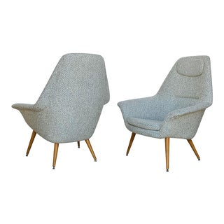 Mid Century Modern Torbjorn Afdal Butterfly Lounge Chairs, 1950s For Sale
