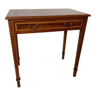 1950s Traditional Inlaid Mahogany Diminutive Writing Table/Console For Sale