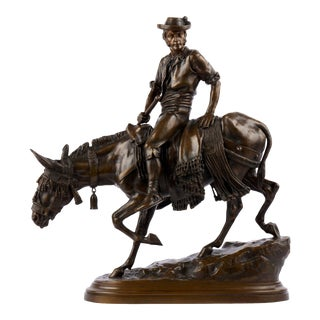 """""""Spanish Rider"""" Antique French Bronze Sculpture by Isidore Bonheur & Peyrol For Sale"""