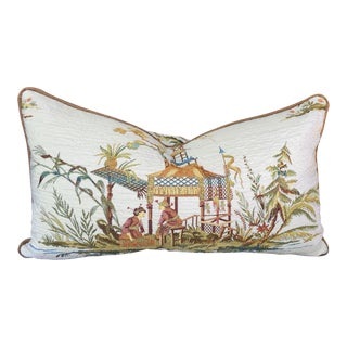 Japanese Embroidered Lumbar Pillow