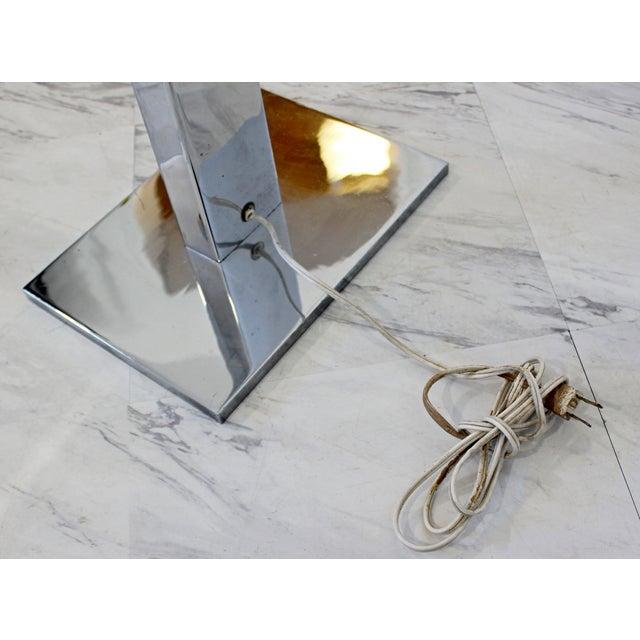 Mid Century Modern Robert Sonneman Polished Chrome Steel Standing Floor Lamp For Sale - Image 9 of 10