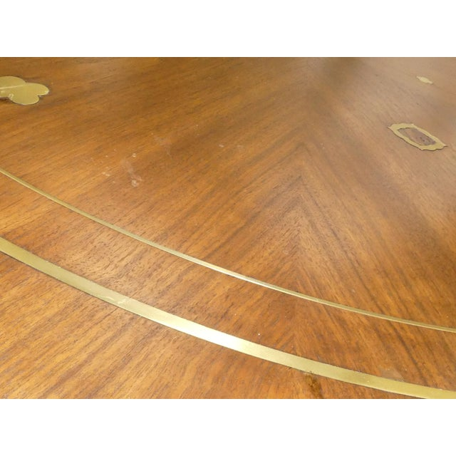 Metal 1960s Mid-Century Modern Bert England for Johnson Furniture Brass Inlaid Round Coffee Table For Sale - Image 7 of 10