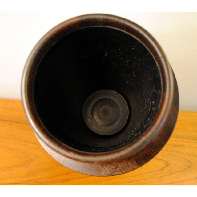 Rare Dansk Wenge Wood Ice Bucket by Jens Quistgaard For Sale In Boston - Image 6 of 13