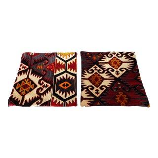 Old Konya Kilim Custom Pillows Pair