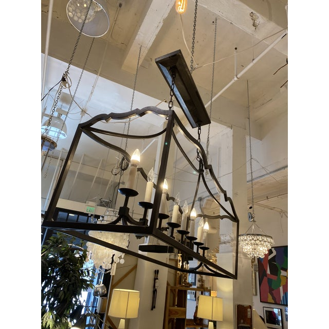 Visual Comfort Visual Comfort Chapman & Myers Darlana Eight Light Linear Pendant For Sale - Image 4 of 11