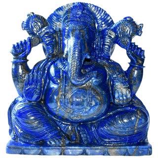 Lapis Lazuli Ganesh Statue, 5.8 Lb, 1st Grade Natural, Large For Sale