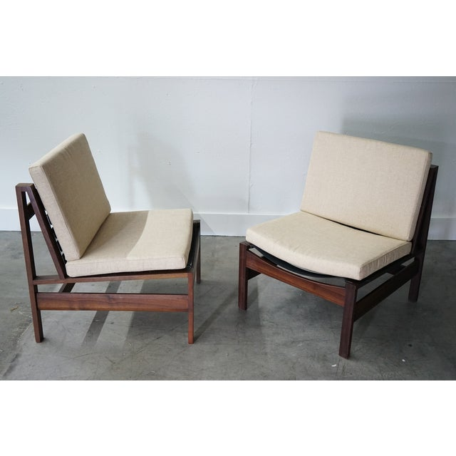 Mid-Century Armless Lounge Chair, Sold as a Pair For Sale - Image 4 of 8