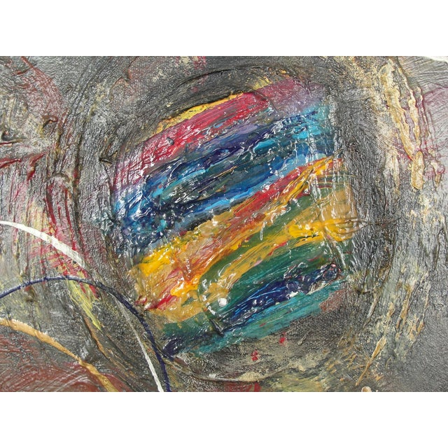 Abstract Mixed Media Painting by A. Marshall - Image 4 of 8