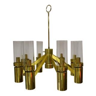 Lightolier Hurricane Brass Chandelier