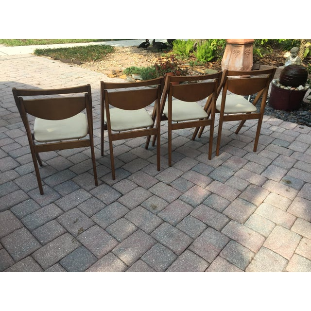 Mid-Century Modern Mid -Century Modern Stakmore Folding Bentwood Table & Chairs- Set of 5 For Sale - Image 3 of 13